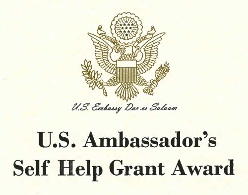 U.S. Ambassador's Self Help Grant Award