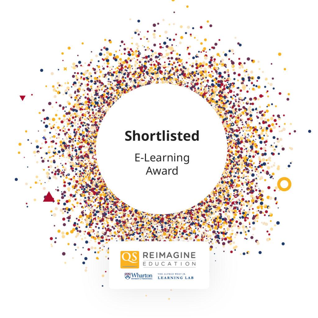 Reimagine Education Shortlisted for E-Learning Award